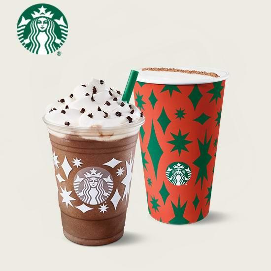 Starbucks 星巴克 Frappuccino 星冰乐及手工咖啡 买一送一!2月22日截止!