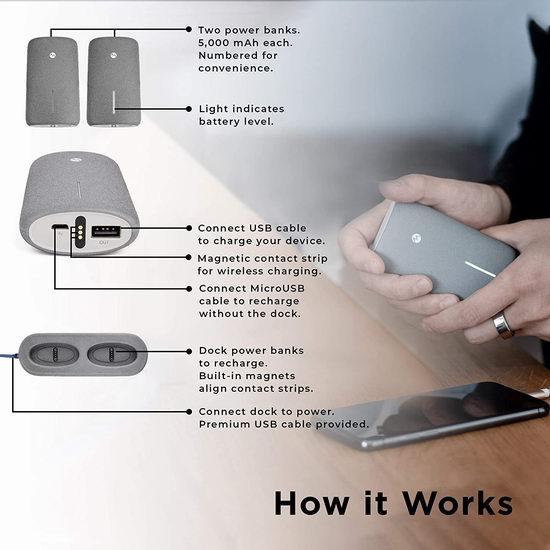 白菜价!历史新低!Mangata Orbit 5000mAh 充电宝2件套+无线充电基座套装3折 14.95加元清仓!