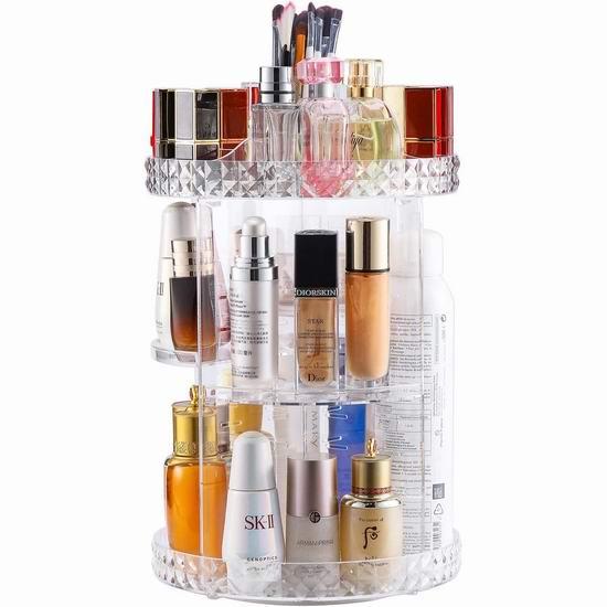 V-HANVER 360度旋转 化妆品收纳盒 28.04加元!