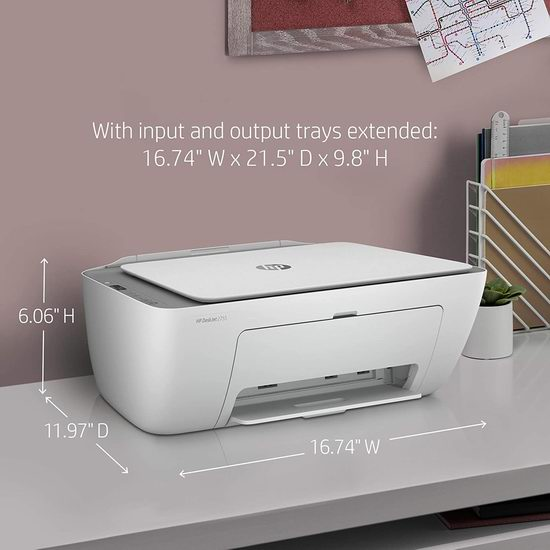 HP 惠普 DeskJet 2755 多功能一体无线彩色喷墨打印机 83.6加元包邮!支持Alexa语音控制!
