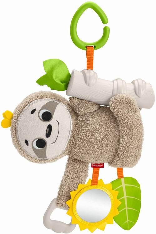 历史最低价!Fisher-Price 婴儿树懒悬挂毛绒安抚玩具 9.16加元,原价 16.61加元