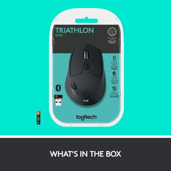 历史新低!Logitech 罗技 M720 Triathlon 蓝牙优联双模 多设备无线鼠标5.7折 39.98加元包邮!