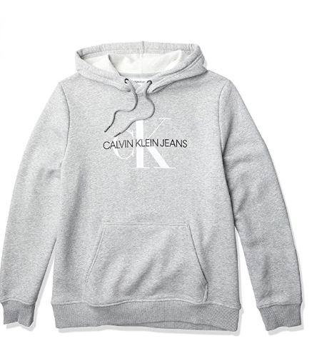 仅限今日!Calvin Klein 男士 Logo抓绒卫衣 37.06加元(M码),原价 57.62加元,包邮