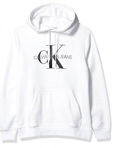 仅限今日!Calvin Klein 男士 Logo抓绒卫衣 36.25加元,原价 57.99加元,包邮