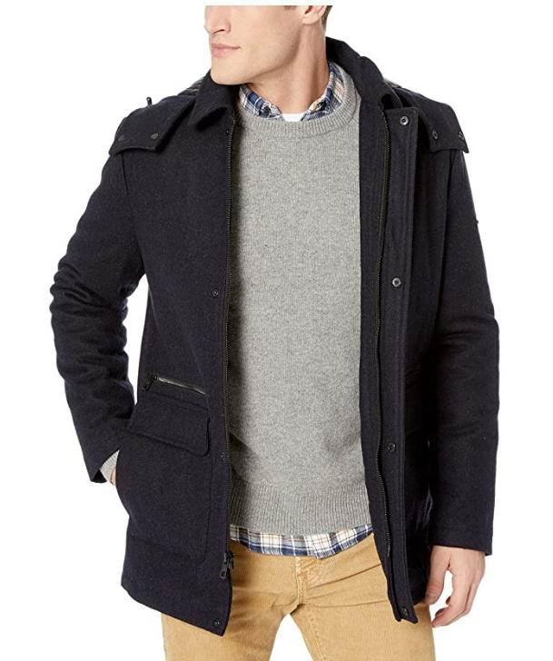 Calvin Klein  男士62%羊毛混纺夹克 78.29加元(S码),原价 178.5加元,包邮