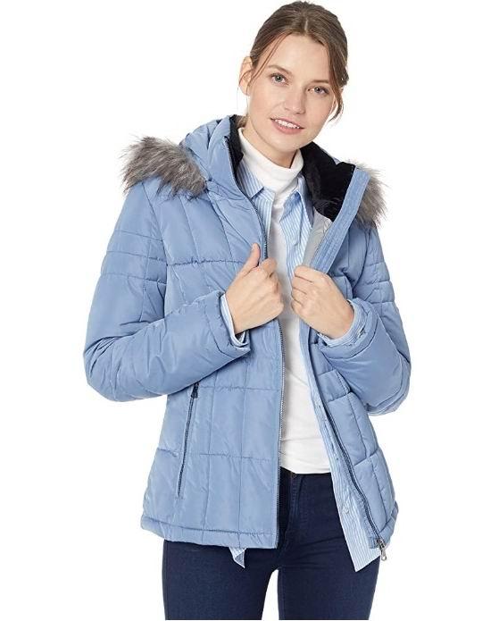 Calvin Klein 可拆卸毛领薄款保暖服 60.76加元(XS码),原价 131.02加元,包邮