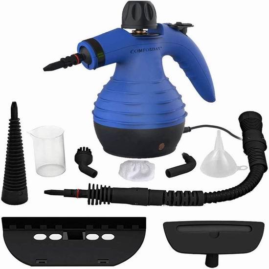 Comforday POWERFUL 多功能手持式 高温蒸汽消毒清洗机/挂烫机 37.39-39.09加元包邮!3色可选!