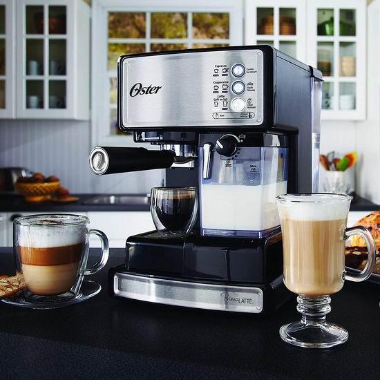 金盒头条:Oster Prima 三合一泵压意式浓缩咖啡机4.8折 135.28加元包邮!