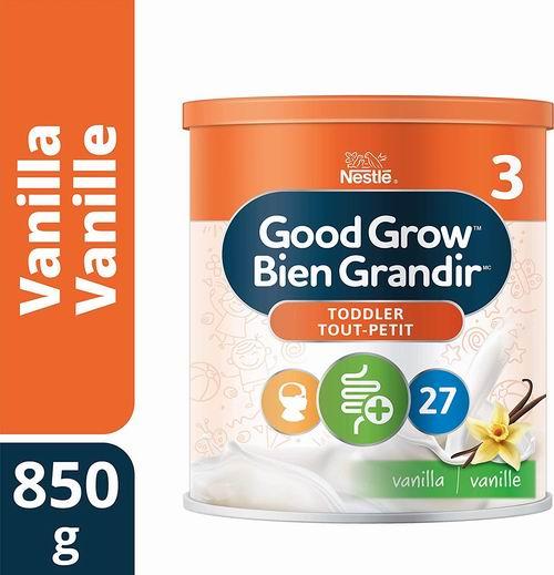 Nestlé Good Grow 3阶段婴儿奶粉 18.98加元,2种口味可选!