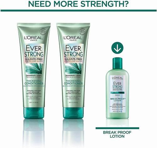 L'Oreal Paris  Evers系列 强韧修护洗发水、护发素 7.59加元