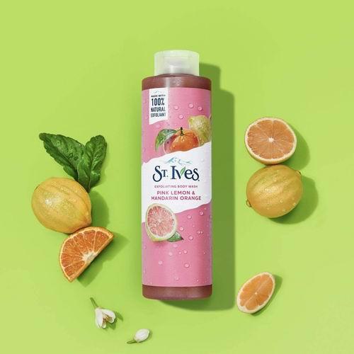 St. Ives 圣艾芙 粉红柠檬橘子味沐浴露650毫升 4.72加元,适合敏感肌肤