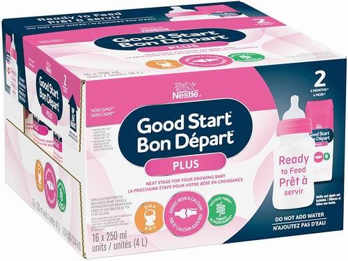 Nestle Good Start Plus 2  即开即用液体奶 250毫升×16瓶 33.97加元