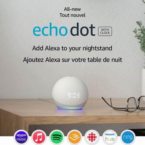 第四代 Echo Dot  智能管家音箱 54.99加元,原价 79.99加元,包邮