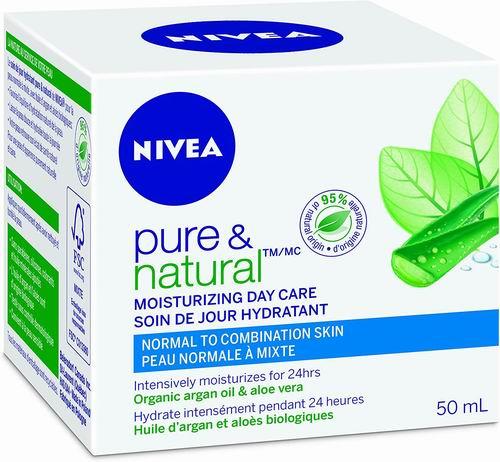 NIVEA 纯天然保湿日霜 50毫升 7.58加元,原价 11.16加元