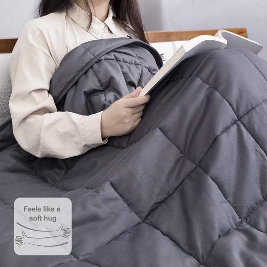 BedStory 15磅 60x80英寸 玻璃珠减压重力被 79.99加元包邮!缓解焦虑助眠神器!