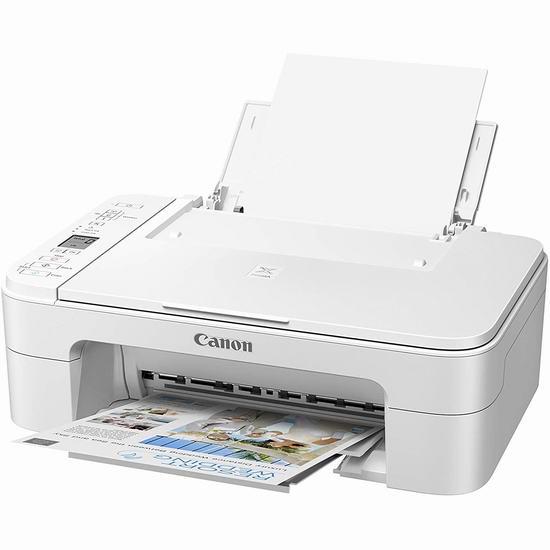 手慢无!Canon 佳能 PIXMA TS3320 白色款 无线多功能一体彩色喷墨打印机4.9折 48.98加元包邮!