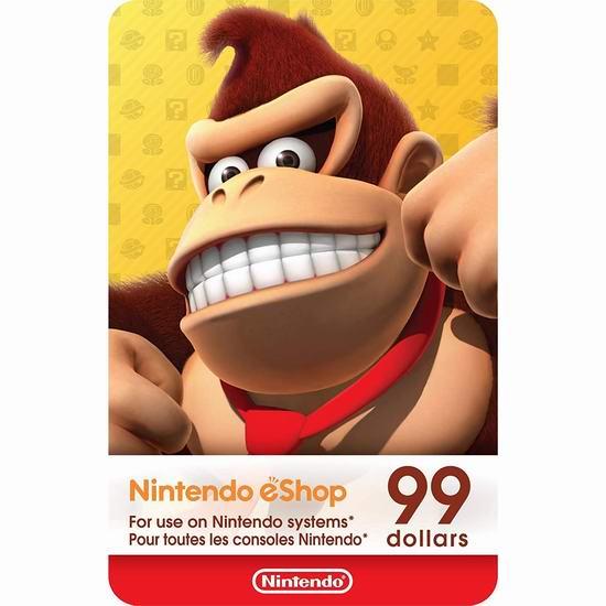 Nintendo 任天堂 eShop 价值99加元电子礼品卡仅售93.99加元!