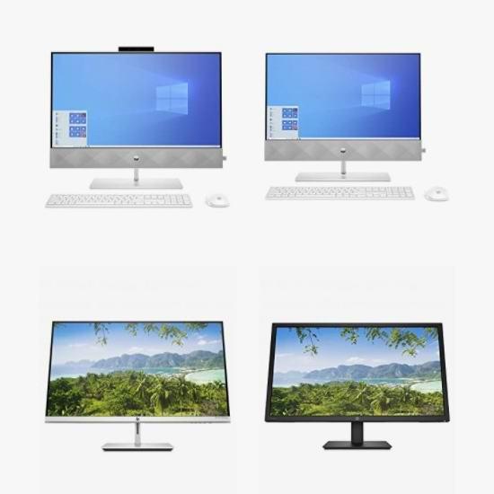 精选多款 HP 惠普 显示器、4K无线显示器、一体式台式机8折起!