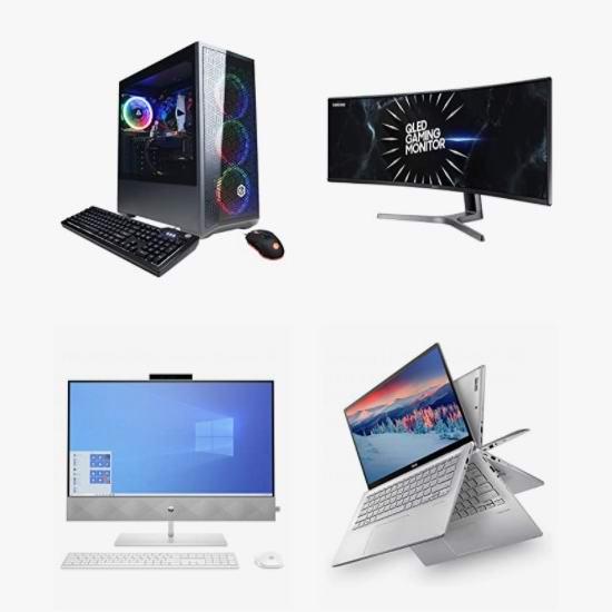 精选多款 Samsung、ASUS、Acer、LG、HP 等品牌笔记本电脑、台式机、一体式台式机、显示器、曲面屏显示器6折起!