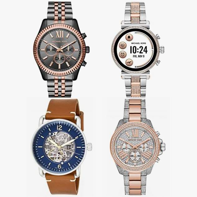 节礼周头条:精选 Michael Kors、Fossil、Diesel 等品牌时尚手表、智能手表5.3折起!