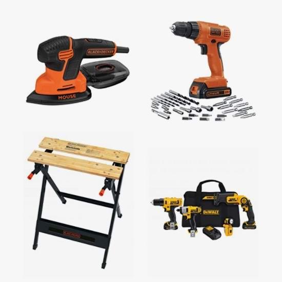 节礼周头条:精选 BLACK + DECKER、DeWalt 电钻、电磨机、锯片、锂电池等6.5折起!