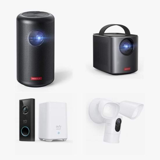 节礼周头条:精选 Anker、eufy 智能掌上投影机、可视门铃、运动感应照明摄像头6.4折起!