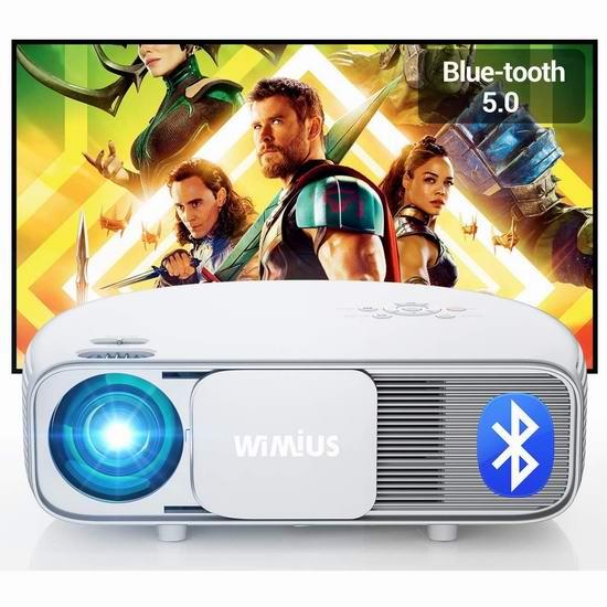 WiMiUS S4 原生1080P 蓝牙WiFi 家庭影院投影仪 239.99加元限量特卖并包邮!