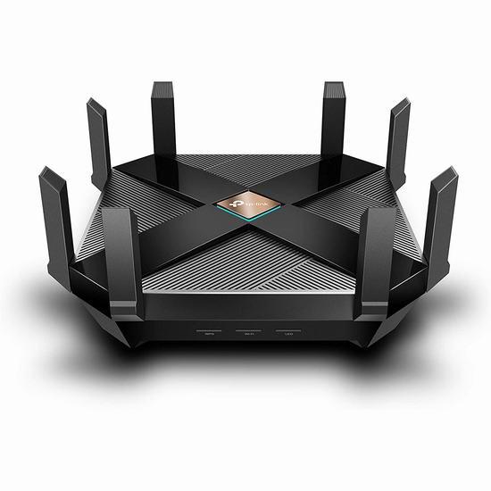 TP-Link WiFi 6 AX6000 8串流智能无线路由器7.5折 299.99加元包邮!