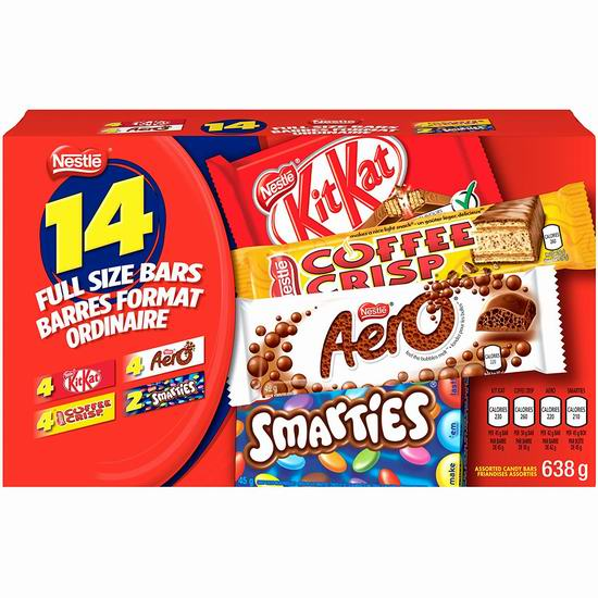 Nestlé Favorites 雀巢巧克力糖果14件(638克) 10.97加元!