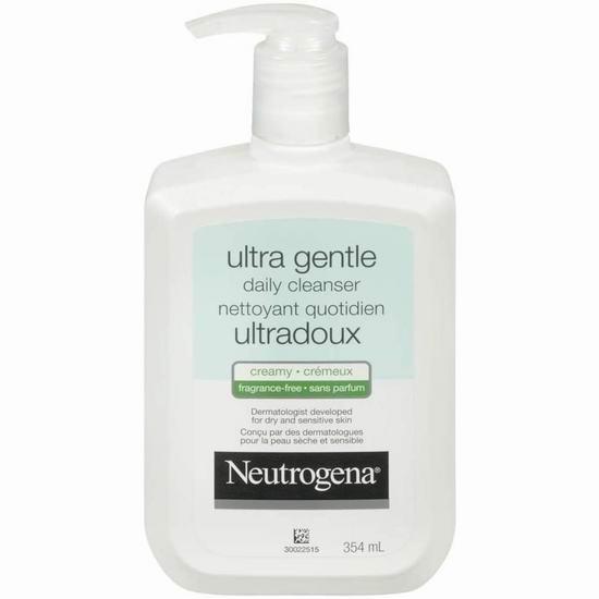 Neutrogena 露得清 Ultra Gentle 超温和配方 洗面奶(354ml)8.97加元!