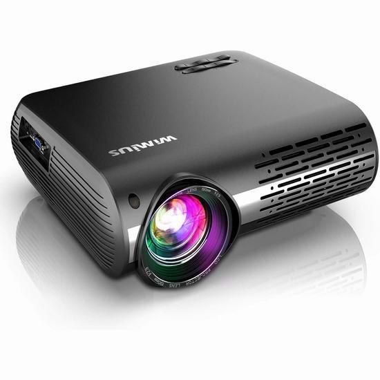 历史新低!WiMiUS P20 原生1080P 7200流明 家庭影院投影仪 199.99加元包邮!