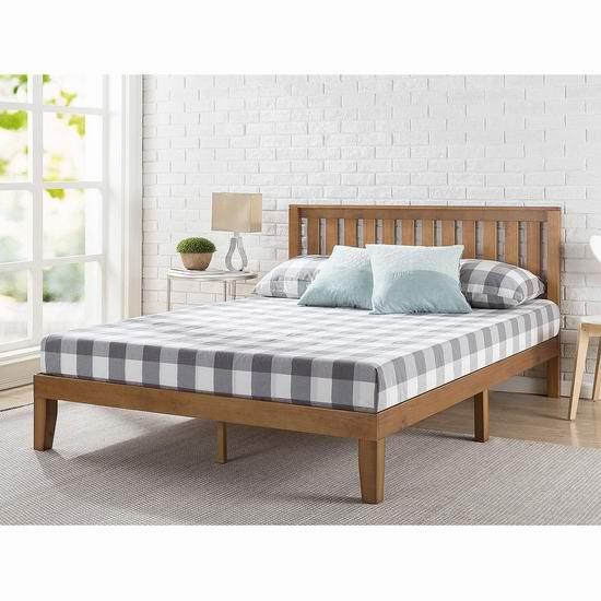 Zinus OLB-PWPBHO-12Q 12英寸 带床头板 Queen木质床架4.9折 251.02加元包邮!