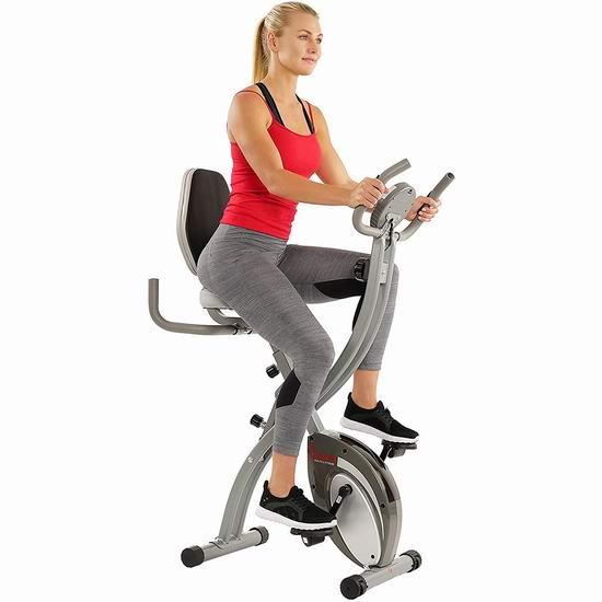 Sunny Health & Fitness SF-B2721 静音磁阻 家用健身自行车 254.08加元包邮!比黑五还便宜!