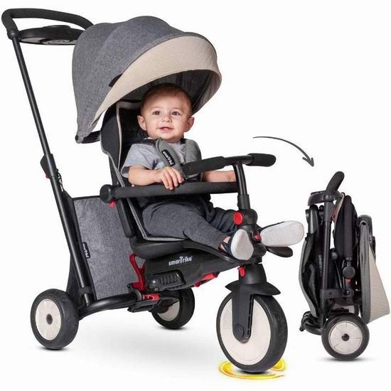 历史新低!英国 smarTrike STR5 七合一 成长型 可折叠 避震婴儿推车/三轮车 164.97加元包邮!