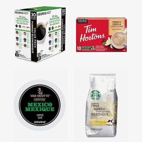 精选 Tim Hortons、Starbucks、Keurig、Van Houtte 等品牌咖啡胶囊、咖啡粉6.9折起!