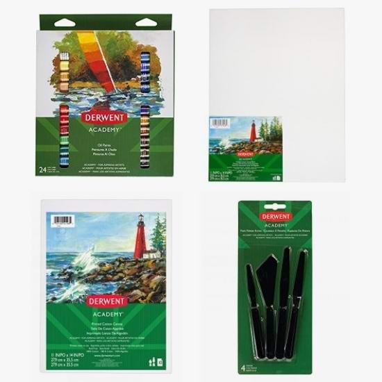 金盒头条:精选 Derwent Academy 水彩颜料、油画颜料、油画帆布、画笔等7折起!