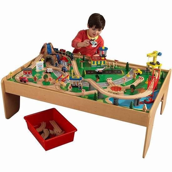 KidKraft 17850 瀑布高山火车轨道玩具+游戏桌 135.97加元包邮!