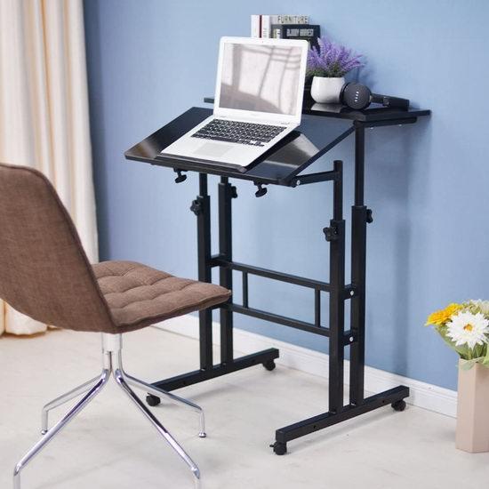 sogesfurniture 坐站两用 可调高 双层电脑桌 99.99加元包邮!3色可选!