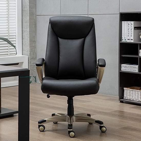 AmazonBasics 加宽加大 高靠背旋转办公椅6折 150.39-151.31加元包邮!2色可选!