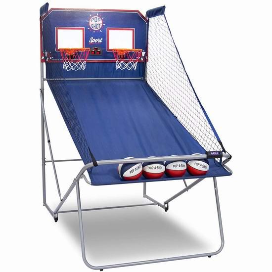 Pop-A-Shot 10合一 家庭双人电子投篮机 229.99加元包邮!