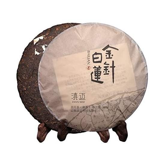 Dian Mai 滇迈 金针白莲 普洱茶熟茶饼(357克)19.05加元!
