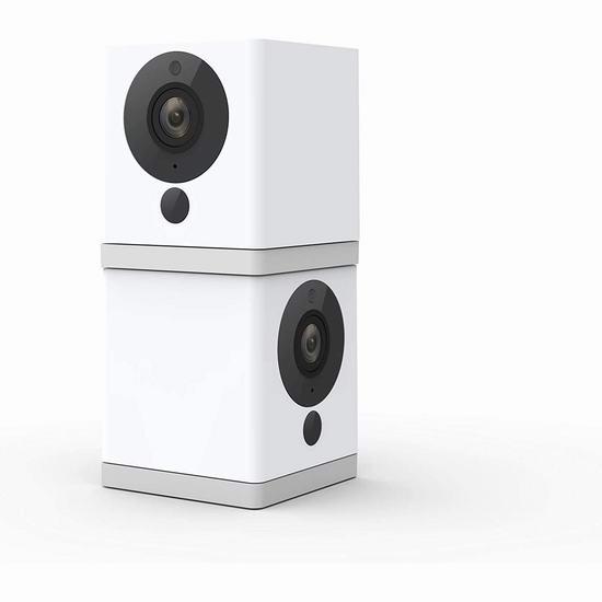 历史新低!Wyze Cam 1080P全高清 家用智能安全摄像头2件套 57.48加元包邮!双向语音、免费云端储存、智能烟雾报警!
