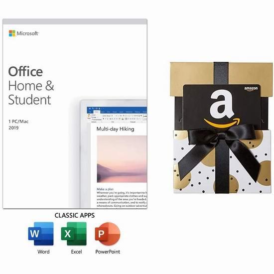 金盒头条:历史新低!微软《Office Home & Student 家庭和学生版》软件 139.95加元包邮!送价值20加元亚马逊礼品卡!