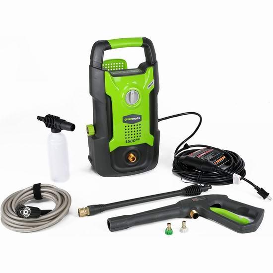 金盒头条:历史新低!Greenworks GPW1501 13安培 1500 PSI 电动高压清洗机5.8折 76.3加元包邮!