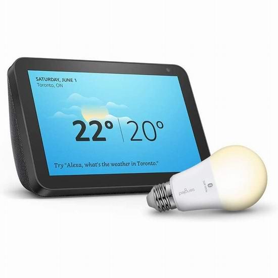 网购周专享:Echo Show 8 大屏智能显示器4.9折 89.99加元包邮+送智能灯泡!2色可选!