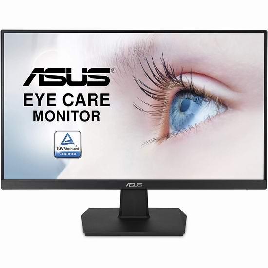 历史最低价!ASUS 华硕 VA24EHE 23.8英寸全高清护眼显示器 149.99加元包邮!