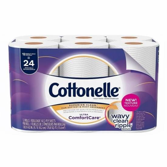 手慢无!Cottonelle 12卷超软卫生纸5.4折 5.99加元+包邮!相当于24卷!