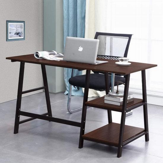 sogesfurniture 55英寸 时尚电脑桌/书桌 129加元限量特卖并包邮!2色可选!