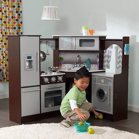 KidKraft Ultimate 终极仿真 转角儿童厨房套装 209加元包邮!