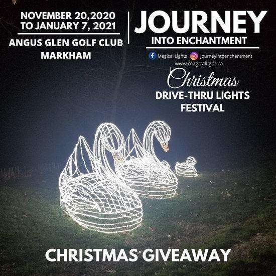 多伦多 Journey into Enchantment Drive-Thru 魔幻圣诞灯展5.8折+额外8.5折!单车低至18.5加元!